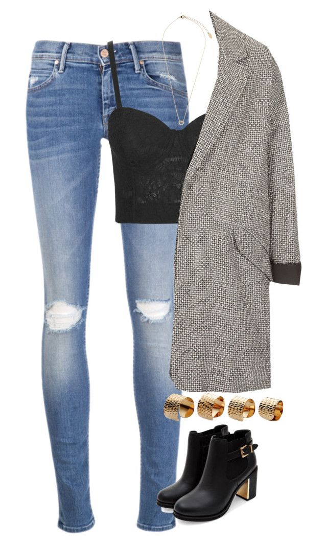 """""""Untitled #1701"""" by cara-delevingne-style ❤ liked on Polyvore featuring Mother, Rare London, Topshop and Maison Margiela"""