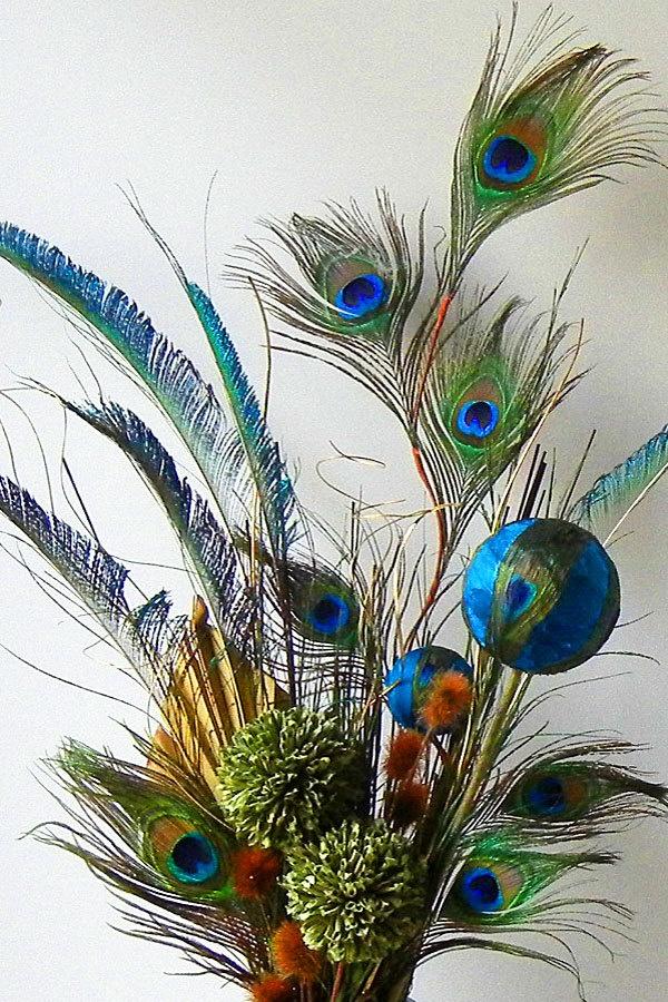 Floral Arrangements Peacock Floral Arrangement by RachelsHeart @Candice Washington
