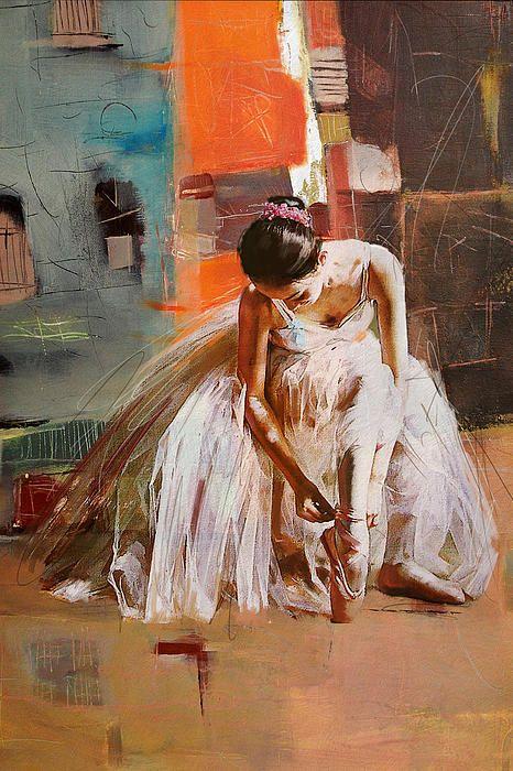 """Ballerina"" Original Oil #Painting by Artist: Mahnoor ""Mano"" Shah 20"" x 30"" Canvas @CATaskForce"