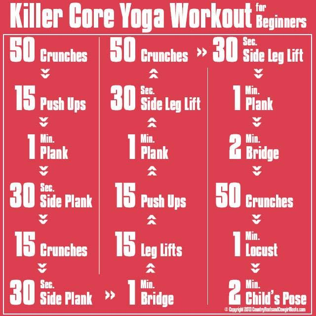 Killer Core Yoga Workout. Core strength will help relieve back pain! Contact me for FREE coaching! 253.987.6633