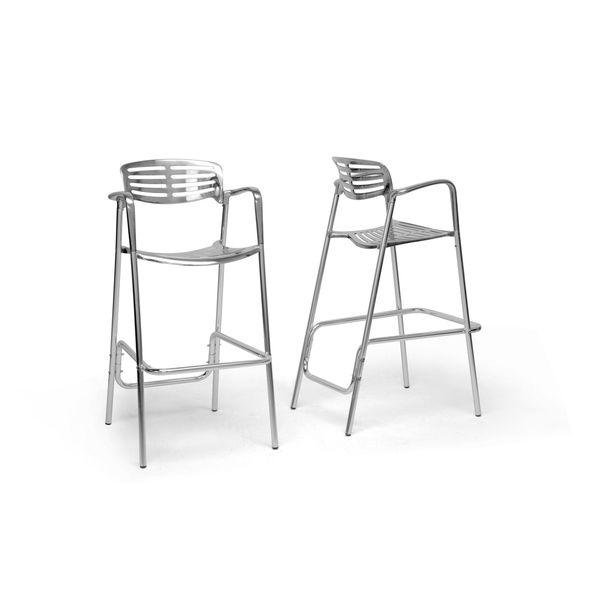 Ethan Modern Aluminum Bar Stool (Set of 2) - Overstock™ Shopping - Great Deals on Baxton Studio Bar Stools