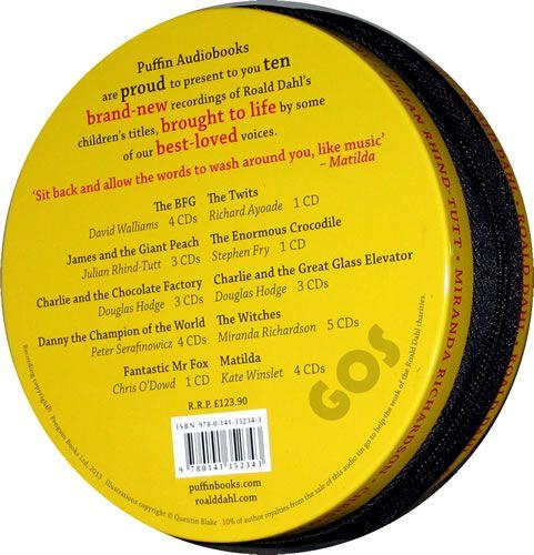 Roald Dahl Audio Books Tin Back View