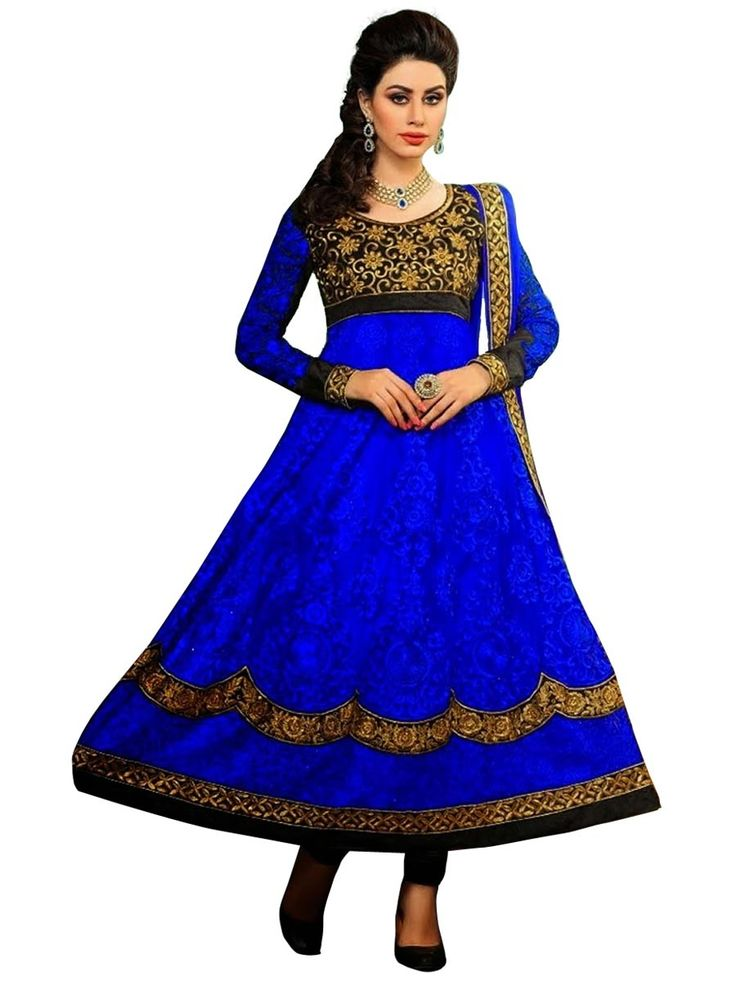 Astonishing #royal #blue color net #anarkali #kurta. Item Code: SLDN22010