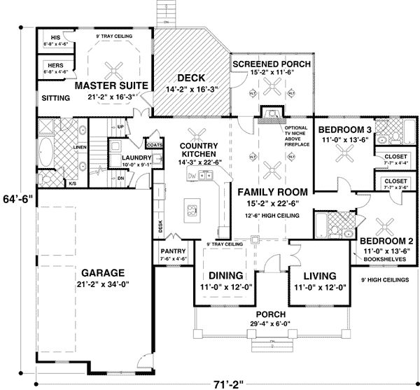 Plan 20078ga Flexible Ranch With Loaded Optional Lower