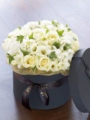 Luxury Rose, Hydrangea and Freesia Hatbox
