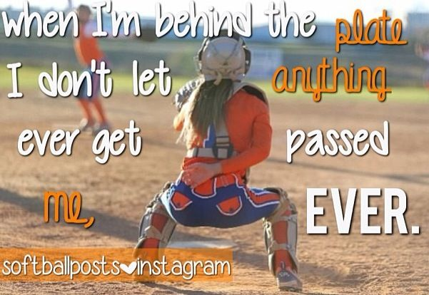 Softball catchers