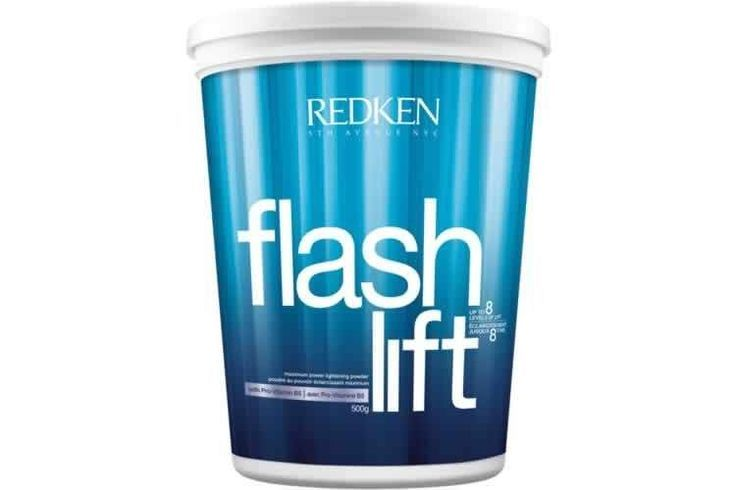 Redken Flash Lift 500g Lightening Powder  - Redken's first powder lightener to achieve up to 8 levels of lift - conditioning pro-vitamin B5 for high lift with zero sacrifice - high adherence, creamy formula allows precise application and uniform lift - customizable for all lightening needs—from extreme platinum blonde results or edgy, dramatic highlights