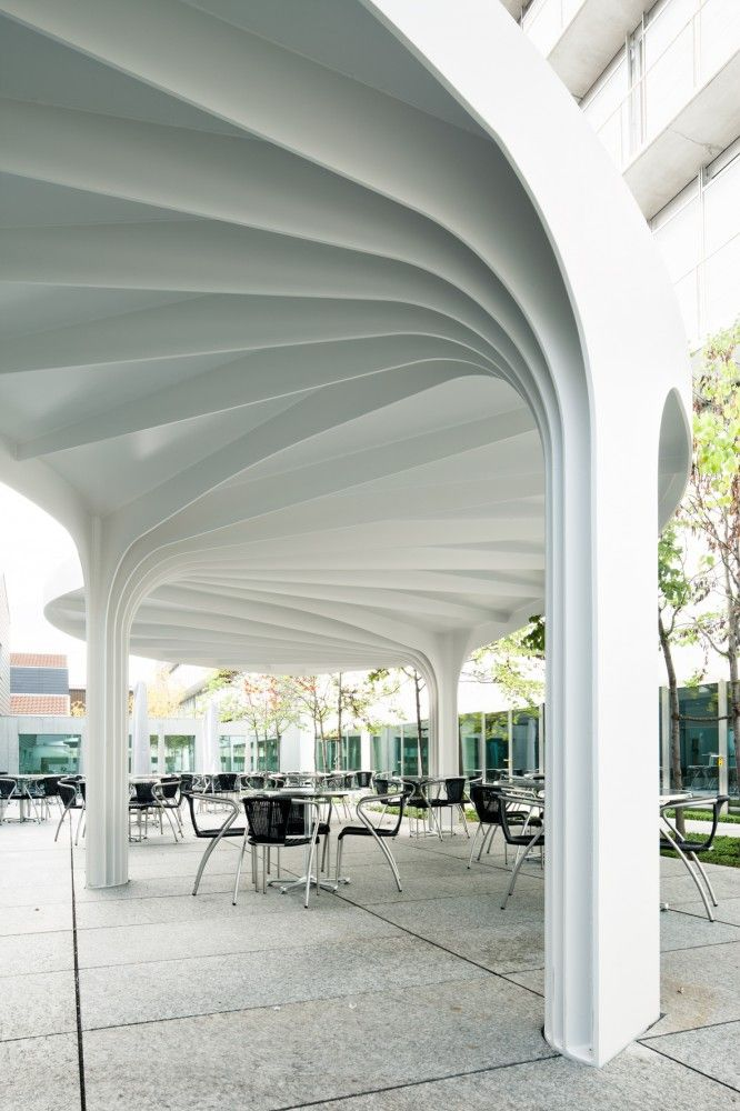 SAM Architekten & Partner . leaf-structured canopy