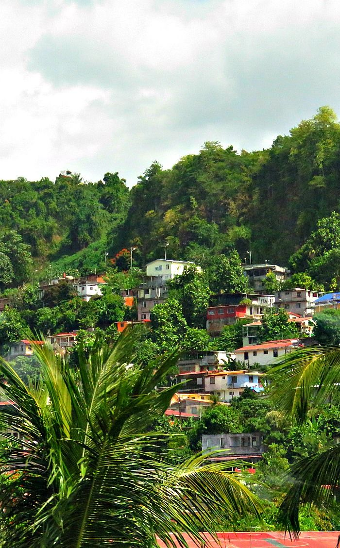 Riding around the island of Martinique.