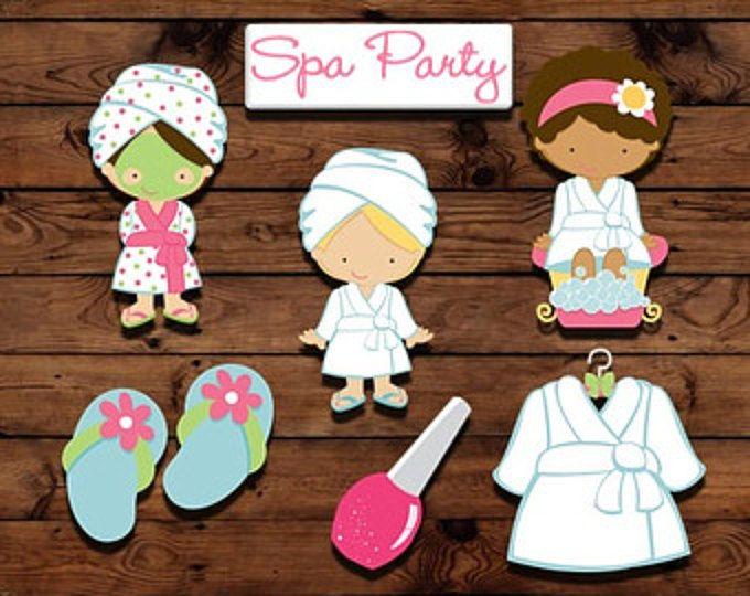 Toppers de cupcake de fiesta Spa, spa fiesta decoración, primeros de la fiesta, fiesta de noche de chicas, decoraciones de torta