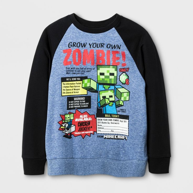 Boys' Minecraft T-Shirt - Royal M, Blue