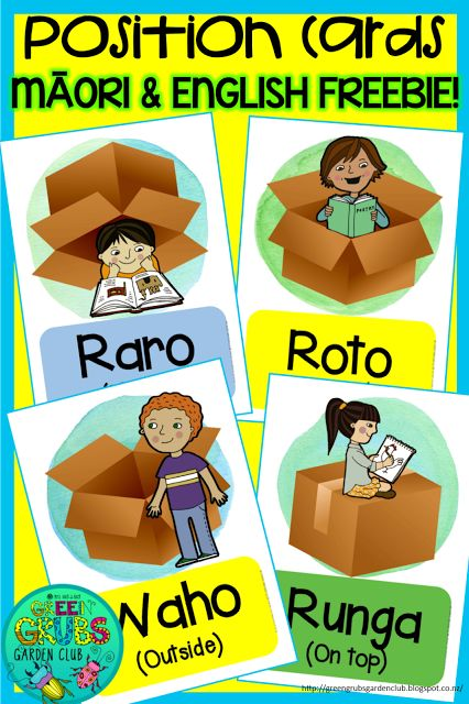 ~FREE PRINTABLES~ Māori position cards: under, on top, inside & outside. {Green Grubs Garden Club Blog}