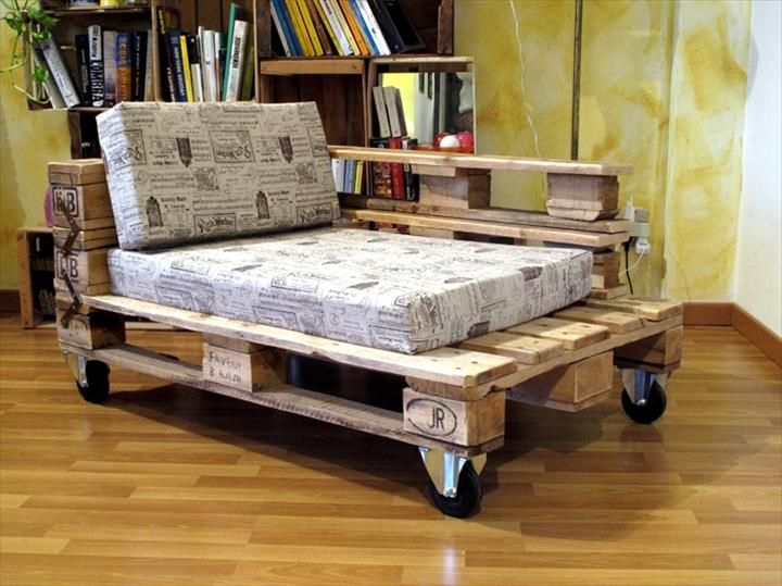 Awesome Pallet Chaise Lounge Chair | Pallet Furniture DIY