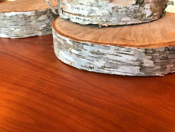 Thick Level White Birch Slabs Dried Birch Tree Disk Tree Slices Birch Wood Round Wood Slices Birch Wood Rustic Wedding Centerpiece Rustic Wedding Centerpieces Birch Tree Wedding Tree Centrepiece Wedding