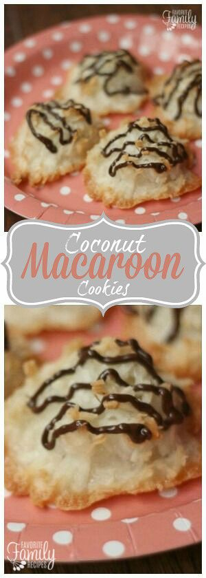 Coconut Macaroon Cookies are slightly crisp on the outside and chewy on the inside. Perfect for parties, dessert, or just a quick treat! via @favfamilyrecipz