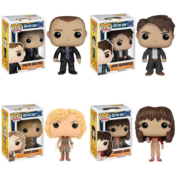 Amazon.com: Doctor Who Ninth Doctor, Jack Harkness, River Song, Sara Jane Smith Pop! Vinyl Figures Set of 4: Toys & Games