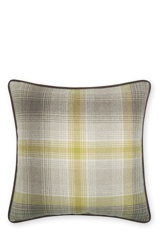 Buy Ochre Cosy Woven Check Cushion from the Next UK online shop