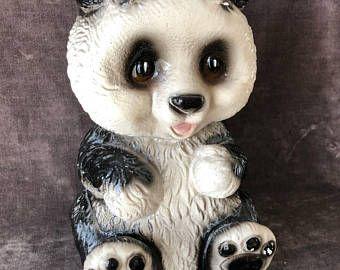Vintage sur la craie taille ware ours panda petit cochon tirelire
