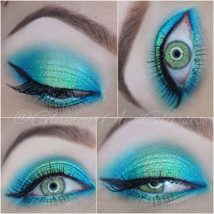 Mermaid inspired halo eye