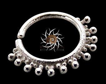 Plata anillo  plata aro  anillo de la nariz de indio