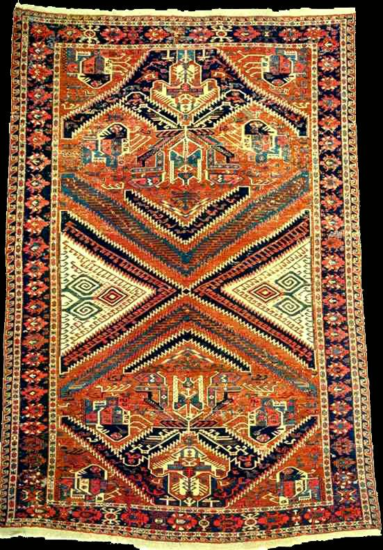 Dragon Soumak Rug Caucasian Rugs And Carpets Antique Kuba Flatweave With Unusual Design Second Half Century Northern Region