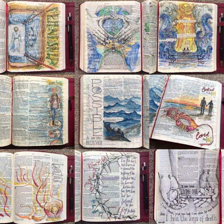action, bible art, bible journal, bible journaling, bible study, Christian blog, Mark complete, Stories