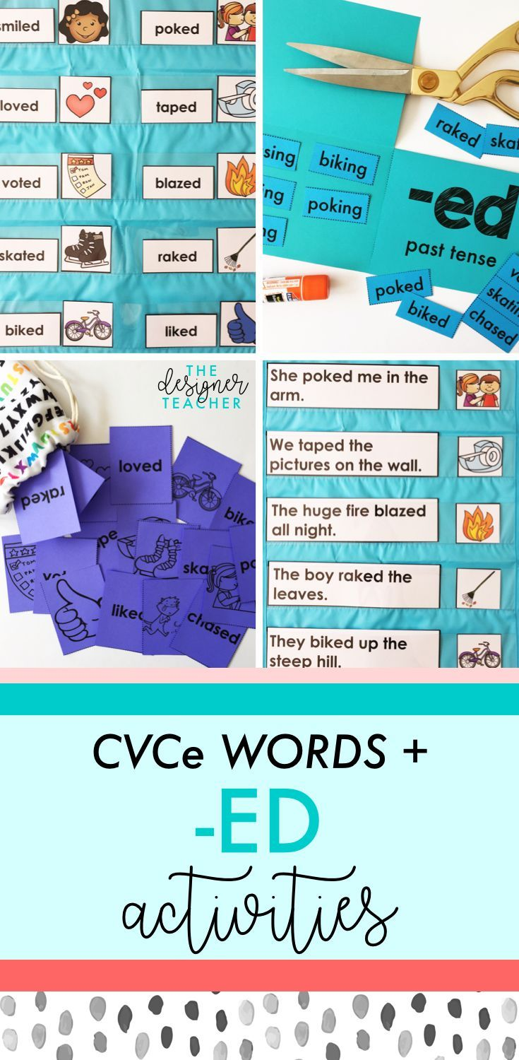 Get everything you need to teach students how to read and spell past tense CVCe words with inflectional ending -ED with this comprehensive mini unit. Includes phonics lesson plans, posters, foldables, games, independent work, and more.