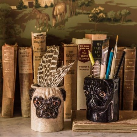 Pug Pencil Pots - Small Storage - Home Decoration - Home Accessories