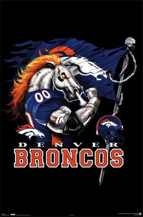 denver broncos mascot pictures | Denver Broncos Football Mascot Poster, Team Logo Art Photos