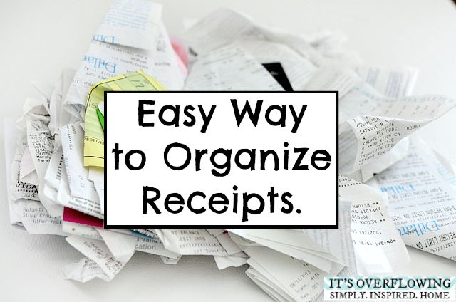 Keeping Receipts Organized