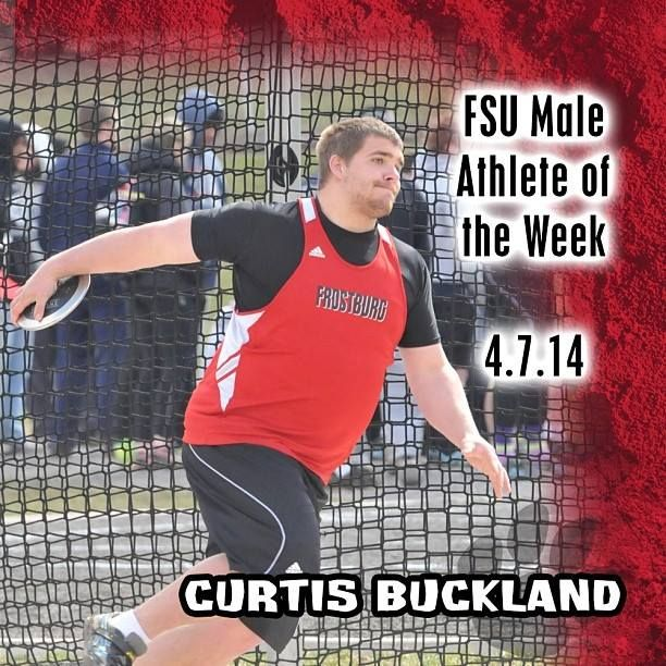 Instagram user @frostburgsports wants to congratulate Curtis Buckland on being named male athlete of the week! #Instafrostburg