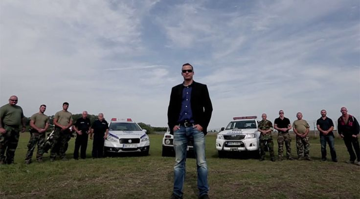 A dramatic anti-refugee video featuring a right-wing mayor from a small Hungarian town next to the Serbian border has been released just as the government attempts to seal its borders in order to stem the flow of asylum seekers crossing into the country illegally.