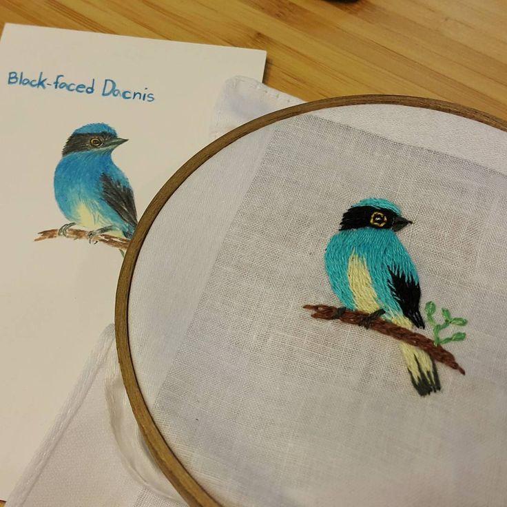 The masked Blue  #embroidery #embroideryart #handembroidery #art #handmade #needlework #diy #craft #handicraft #stitching #embroideryfloss  #needlecraft #hobby #idea #stitch