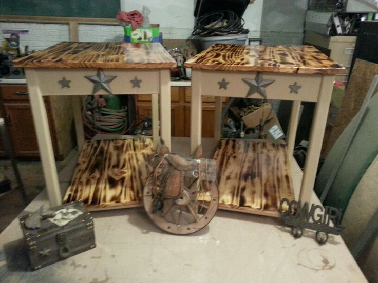 Western style end tables I made. | Billy Dale | Pinterest