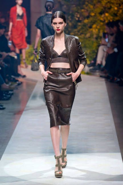 Leather Trend for Spring 2013 - Leather on the Runway at Fashion Week Spring 2013 - ELLE
