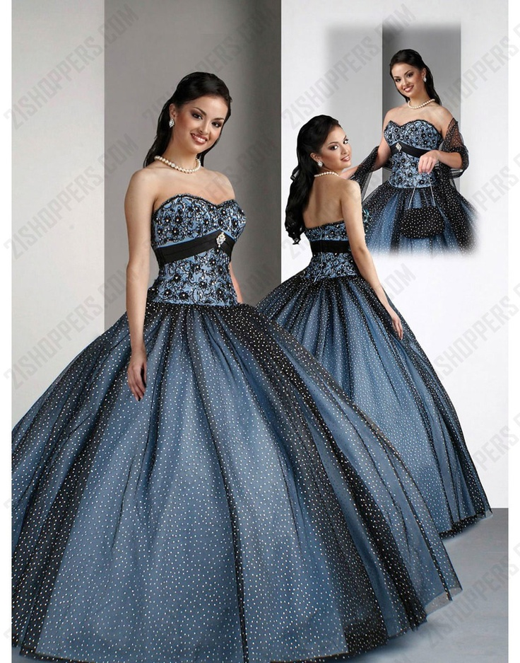 17 Best images about quinceanera dress--blue on Pinterest ...