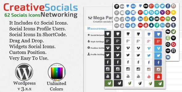 Creative socials 1.0 Free at DLEWordPRess