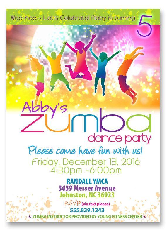 Zumba Party Invitation Zumba Dance Party by ScriptureWallArt, $12.00
