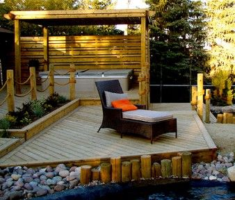 ... Deck Ideas on Pinterest  Trees and shrubs, Hot tub deck and Outdoor