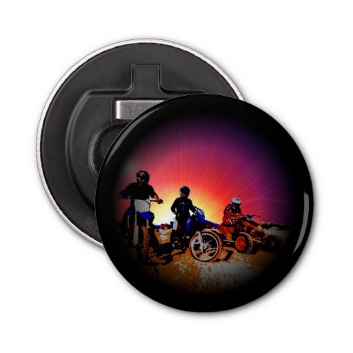 http://www.zazzle.com/gone_riding_quad_dirt_bike_motocross_bottle_opener-256556973036626764?rf=238523064604734277 Gone Riding Quad Dirt Bike Motocross Bottle Opener - This bottle opener features three friends which have gone riding on their dirt bikes and quad bikes.