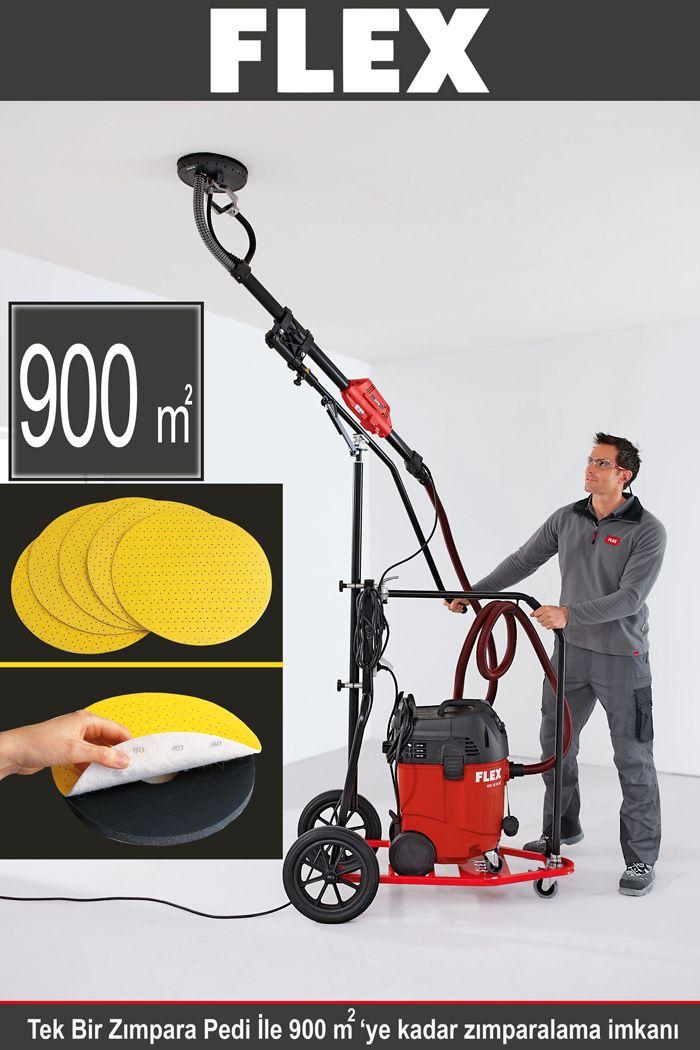 FLEX profesyonel alçı ve boya duvar zımpara makinasının Velcro zımpara pedi ile 900 metrekareye kadar zımparalama mümkündür. http://www.ozkardeslermakina.com/urun/alci-zimpara-makinasi-flex-wse-500/ #flex #alçı_zımpara_makinası #alçı_zımpara_makinesi #zımpara #zımpara_kağıdı #boya_badana #alçı_dekorasyon #boyama