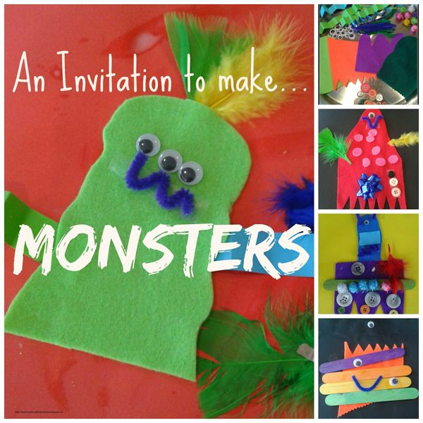 Invitation to make monsters from Multicraftingmummy