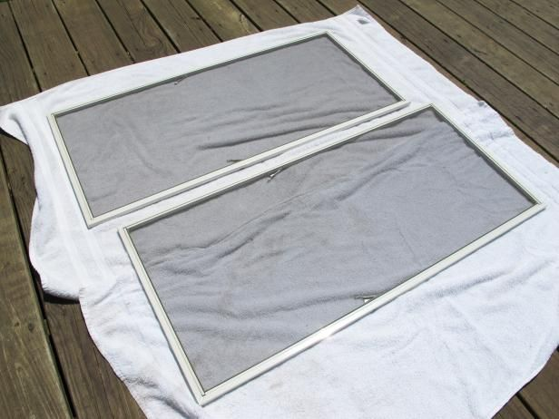 DIY Network has instructions on the best way to clean door and window screens.