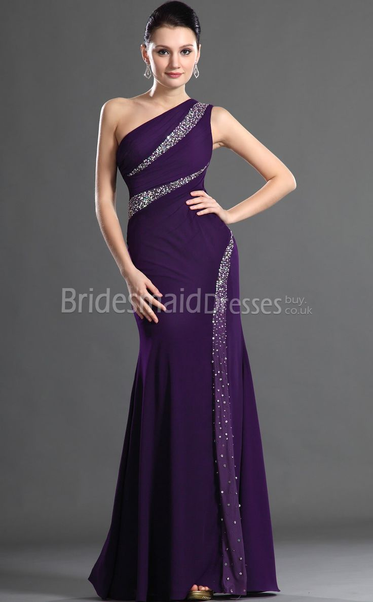 Best 25 long purple bridesmaid dresses ideas on pinterest dark sexy regency satin trumpetmermaid one shoulder floor length with beading bridesmaid dresses ombrellifo Image collections