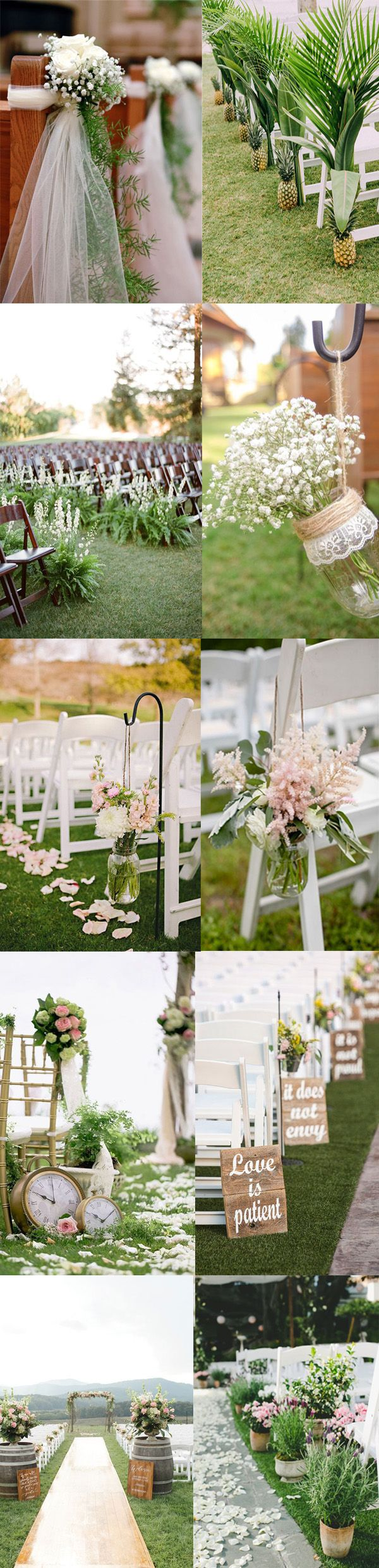 Go for a chic look with beasutiful and unique aisle and arch for a charming outdoor wedding? Want to wow your guests with a ceremony arch and aisle worthy of your big entrance? Here are some different arch and aisle decoration styles and ideas to get you inspired! Ceremony arch ideas photo credit: SMP / SMP / himisspuff / rusticweddingchic / bloglovin / modwedding / hellomay / SMP / deerpearlflowers / SMP Ceremony aisle …
