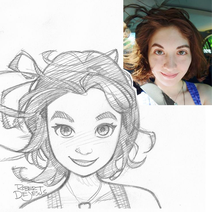 Siara Commission by Banzchan American artist Rober DeJesus turns stranger's photos into anime versions of themselves