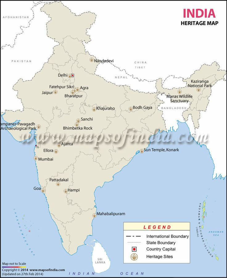Heritage Map of India