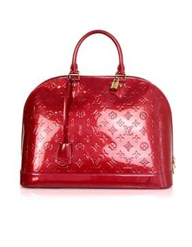 Louis Vuitton |  Louis Vuitton Pomme D'amour Monograma rojo Vernis Alma Gm Totalizador Ghw W / db / lock / keys