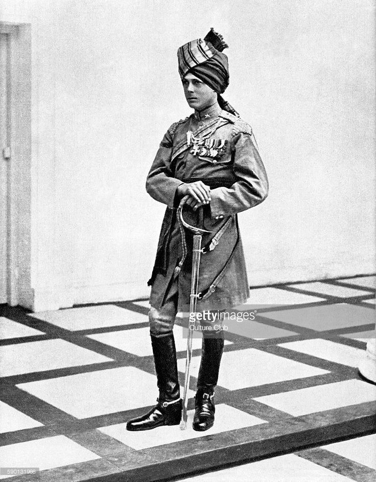 The Prince of Wales (to become King Edward VIII before abdication) visit to India in 1921, wearing the uniform of the 34/35th Jacob's Horse.