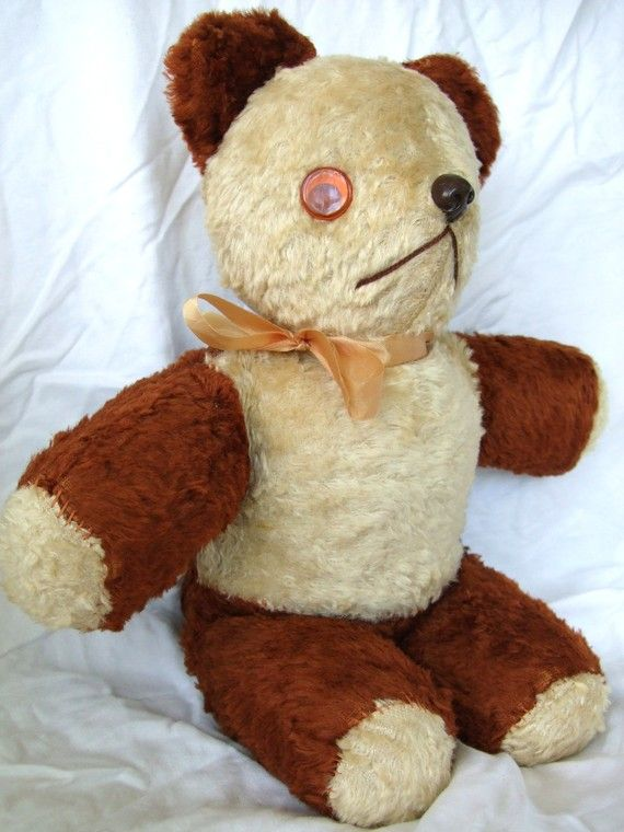 #Vintage Teddy Bear-1950's-1960's. $68.00, via Etsy.